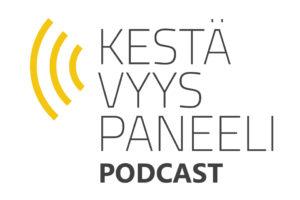 Kestävyyspaneelin podcast-sarjan logo.